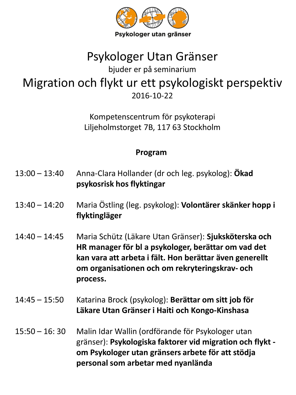 volontär stockholm flyktingar